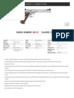 Ruger Mark IV Competition Spec Sheet