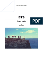 BTS Songs Lyrics