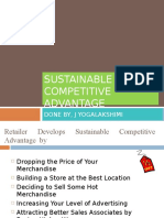 Sustainable Competitive Advantage and Growth Strategies
