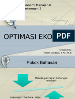 Pertemuan 2 Optimasi Ekonomi 1
