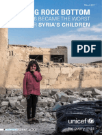 UNICEF Report on Children in Syria
