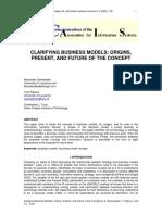 Osterwalder, et al. 2005 - Clarifying Business Models - Origins, Present, and Future of the Concept.pdf