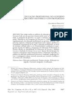 A Politica de Educação Profissional No Governo Lula_ Um Percurso Historico