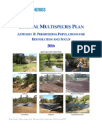 2016 Coastal Multispecies Plan Appendix H