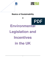 4 - Environmental Legislation and Incentives in the UK