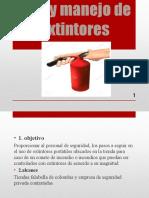 Uso y Manejo de Extintores Diego