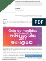 Guía de medidas para imágenes de redes sociales 2017 - Agencia de Marketing Online _ Diseño Web _ SEO _ Analitica _ Venezuela