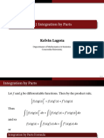 Notes on Integration by Parts