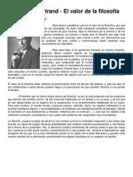 Russell, Bertrand - El Valor de La Filosofía