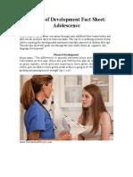periods of development fact sheet teen