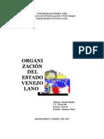 Genesis Organizacion Del Estado Venezolano
