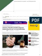 Jueces y fiscales penales pagarían indemnización por errores judiciales — La Ley - El Ángulo Legal de la Noticia.pdf