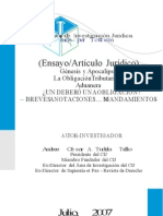 El Deber Obligacion rio Aduanero
