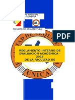 Reglamento Interno de Evaluación Académica -2015 FDA