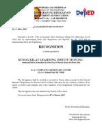 DEPED Certificate