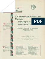 "Federal Council of Churches in America, ""A Christmas and New Year message"