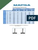Especificaciones técnicas drizas Mapsa