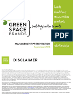 GreenSpace Brands Management Presentation October 2016