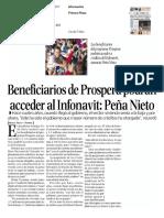 11Marzo2017 BeneficiariosdeProsperaPodrán Acceder Al INFONAVIT Peña Nieto