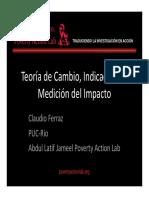 Clase 2 Teoría de Cambio, Indicadores y Medición Del Impacto - Caludio Ferraz