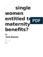 Are Single Women Entitled to Maternity Benefits