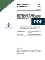 NTC 3823 Muestreo y Ensayo de Cenizas Volantes o Puzolanas Naturales para Uso como Aditivo Mineral en el Concreto de Cemento Pórtland.pdf