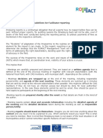 Guidelines for Facilitator Reporting