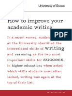 How to Improve Your Academic Writing 2009