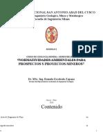 Normatividades Ambientales Para Proyectos Mineros