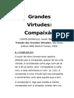 COMTE-SPONVILLE. Pequeno Tratado Das Grandes Virtudes - Compaixão