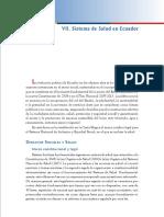 Sistema de Salud en Ecuador Epidemiologia