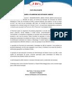 JBS S.A. ADQUIRE A PLUMROSE NOS ESTADOS UNIDOS (Fato Relevante)