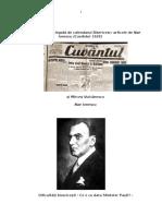 Nae Ionescu - Problematica Legata de Calendarul Bisericesc-1929