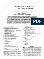 Temperature Transients in a Cylindrical Pressure Vessel Filled From Vacuum
