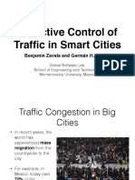 Proactive Control of Traffic in Smart Cities