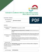 Calendario Academico ISFD Dr 2016 2