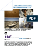 After Mosul The coming break-up of Iraq and the end of the Middle East.docx