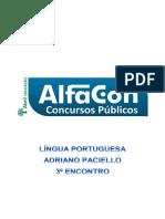 Alfacon Pf Lingua Portuguesa Adriano Paciello 3o Enc