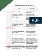 Los 12 Pasos Del Desarrollo Del Tpm