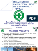 GERENCIAMENTO DE SEGURANÇA INDUSTRIAL, MEIO AMBIENTE E PATRIMÔNIO - REVISÃO.ppt
