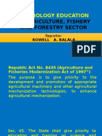 Technology Education in Agriculture, Fishery and Forestry