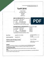 2016 Tariff