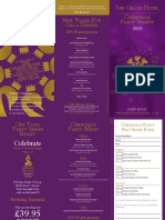 Christmas Party Brochure 2013