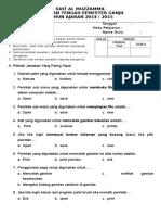 Ulangan Midtest Kelas 2 Sms 1 Ta 2014