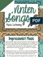Winter Songs Music Listening