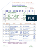 3rd Year Time Table