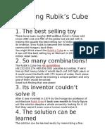 Amazing Rubik's Cube Facts
