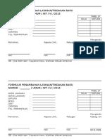Form Tambah Layanan