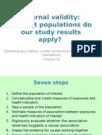 Epidemiology External Validity