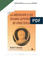 La Meditación y Los Estados Superiores de Conciencia